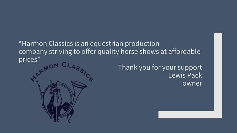 Harmon Classics Sponsorship.